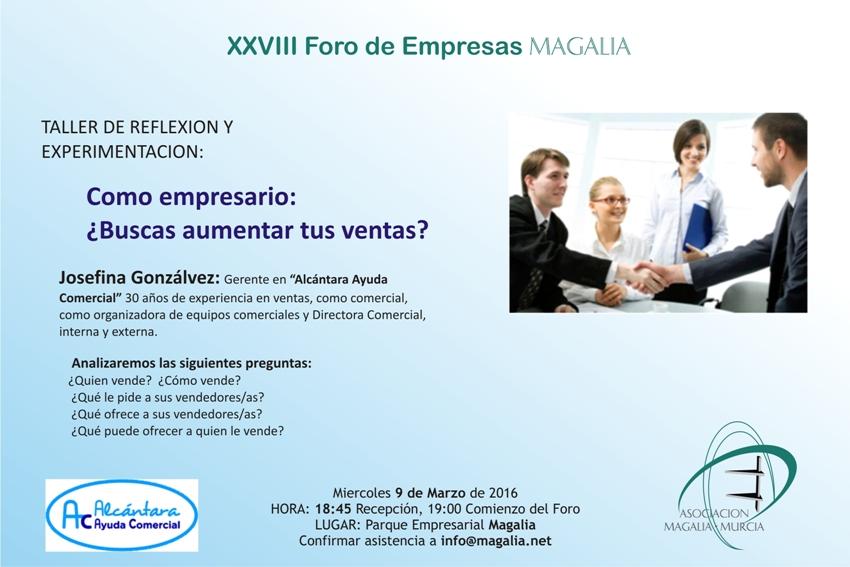 XXVIII Foro Magalia ¿Buscas aumentar tus ventas?
