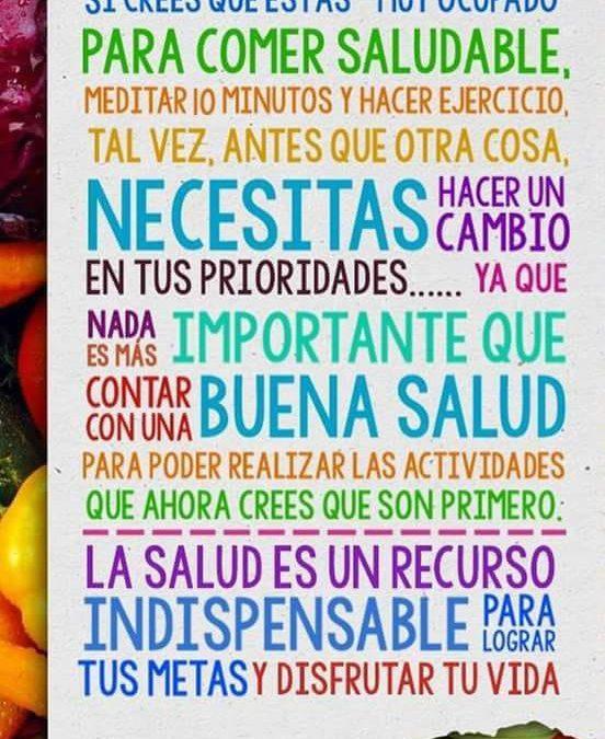 Taller Educación alimentaria y hábitos saludables