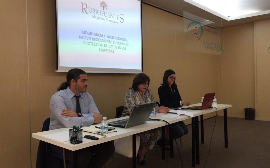 Tecnitec fiscal, Centro de Negocios Magalia y RubioFuentes Abogados organizan una masterclass sobre la nueva normativa LOPD