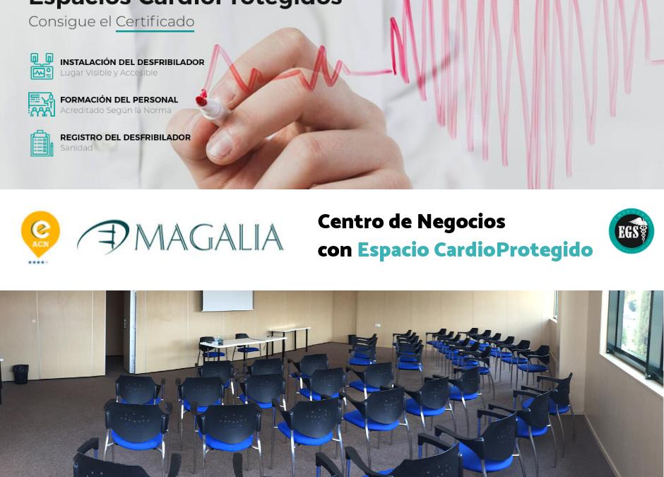 El Centro de Negocios Magalia ya es Espacio CardioProtegido
