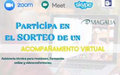 Sorteo servicio acompañamiento técnico para cursos online o videoreuniones